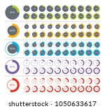 set of pie chart infographic... | Shutterstock .eps vector #1050633617