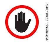 hand making a stop signal... | Shutterstock .eps vector #1050634847