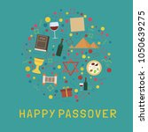 passover holiday flat design... | Shutterstock .eps vector #1050639275