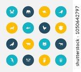set of 16 editable zoo icons....