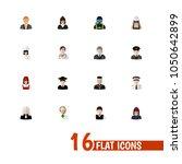 set of 16 editable job icons...