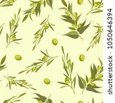 seamless pattern with olive... | Shutterstock .eps vector #1050646394