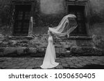 the bride is standing next to... | Shutterstock . vector #1050650405