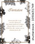 frame of flowers. for your... | Shutterstock .eps vector #1050651749