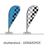 modern flat chequered flag for...   Shutterstock .eps vector #1050652925