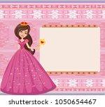 beautiful princess   cute happy ... | Shutterstock . vector #1050654467