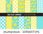 aqua blue lemonade vector... | Shutterstock .eps vector #1050657191