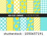 aqua blue lemonade vector... | Shutterstock .eps vector #1050657191