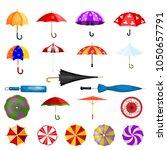 umbrella vector umbrella shaped ... | Shutterstock .eps vector #1050657791