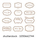 vector illustration vintage... | Shutterstock .eps vector #1050662744