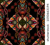colorful ethnic pattern.... | Shutterstock .eps vector #1050663194