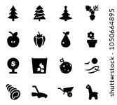solid vector icon set  ... | Shutterstock .eps vector #1050664895