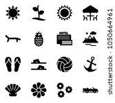 solid vector icon set   sun... | Shutterstock .eps vector #1050664961