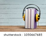 audio book concept | Shutterstock . vector #1050667685