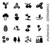 solid vector icon set   holly... | Shutterstock .eps vector #1050668411