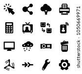 solid vector icon set   cursor... | Shutterstock .eps vector #1050669971