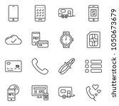 thin line icon set   credit... | Shutterstock .eps vector #1050673679