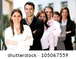 successful group of business... | Shutterstock . vector #105067559