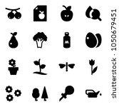 solid vector icon set  ... | Shutterstock .eps vector #1050679451