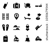 solid vector icon set  ... | Shutterstock .eps vector #1050679544