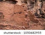 native american indian ruins... | Shutterstock . vector #1050682955