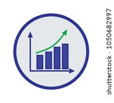growing diagram vector | Shutterstock .eps vector #1050682997