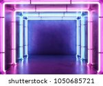 Stock photo neon abstract background 1050685721