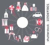 wedding budget. vector  ... | Shutterstock .eps vector #1050695801