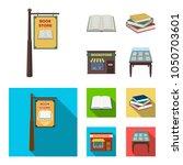 a signboard  a bookstore  a... | Shutterstock .eps vector #1050703601