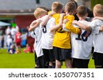 children soccer team. kids... | Shutterstock . vector #1050707351