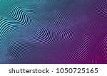 vector warped lines colorful... | Shutterstock .eps vector #1050725165