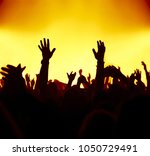 concert crowd in front of... | Shutterstock . vector #1050729491