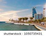jeddah cityscape and landmarks | Shutterstock . vector #1050735431