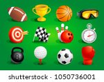 sport objects symbols and icons ... | Shutterstock .eps vector #1050736001