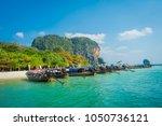 phra nang  thailand   february... | Shutterstock . vector #1050736121