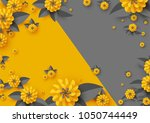 abstract paper cut flowers ... | Shutterstock .eps vector #1050744449