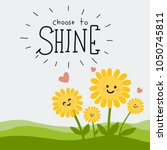 choose to shine word and cute... | Shutterstock .eps vector #1050745811