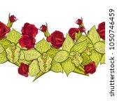 vector seamless flower pattern... | Shutterstock .eps vector #1050746459