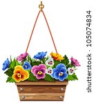 Wooden Flower Pot With...