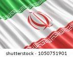 iranian flag background  3d...   Shutterstock . vector #1050751901