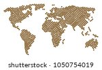 earth map concept made of shit... | Shutterstock . vector #1050754019