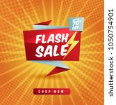 flash sale banner template... | Shutterstock .eps vector #1050754901