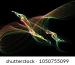 dark abstract background with a ...   Shutterstock . vector #1050755099
