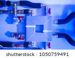 gas supply. distribution of gas ... | Shutterstock . vector #1050759491