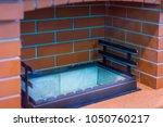 fireplace for barbecue. garden...   Shutterstock . vector #1050760217