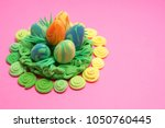 easter. abstraction from...   Shutterstock . vector #1050760445