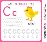alphabet tracing worksheet for...   Shutterstock .eps vector #1050769667