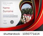 qualification certificate of...   Shutterstock .eps vector #1050771614