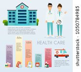 medical infographic. flat... | Shutterstock .eps vector #1050784985