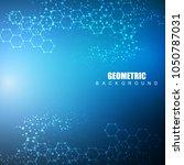 hexagonal abstract background....   Shutterstock .eps vector #1050787031